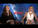 Mandy Moore & Claire Holt Interview - 47 Meters Down
