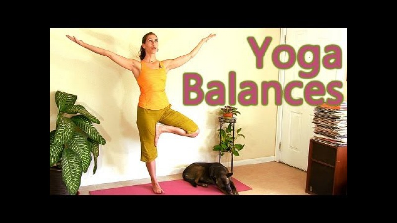 Beginners Yoga Relaxing Balance Routine, Tree Pose | Mollie Psychetruth Austin ASMR