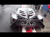 3 Million Dollars Lamborghini Veneno Racing on Rainy Track!!