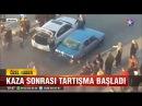 Ankara Mamak'ta aracına çarpan otomobili zincirli sopa ile hurdaya çevirdi