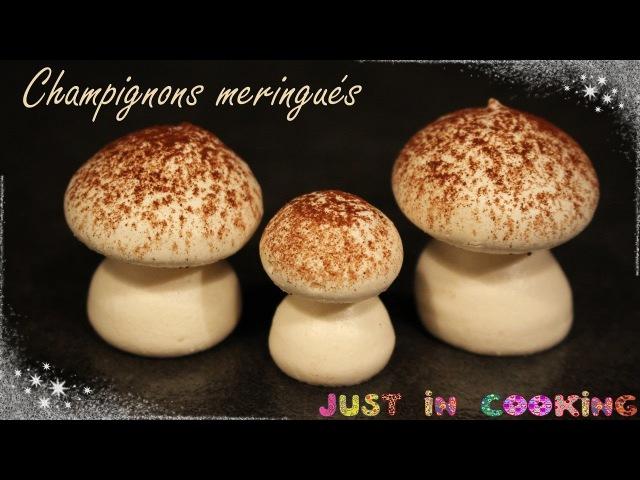 ❅ Réaliser des Champignons Meringués pour décorer ses desserts ❅