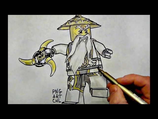 How to Draw Ninjago SENSEI WU LEGO