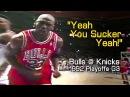 Michael Jordan Trashtalks Xavier McDaniel Yeah you sucker, yeah! (Bulls @ Knicks, 1992)
