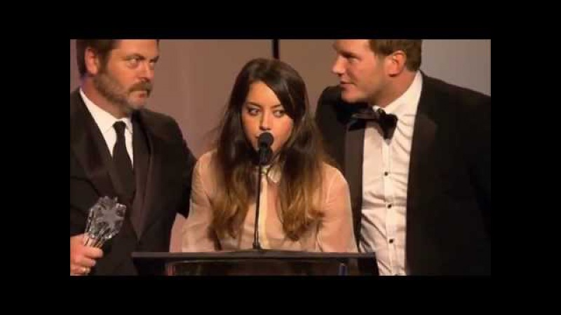 Aubrey Plaza Parks and Recreation Devil Satan Speech