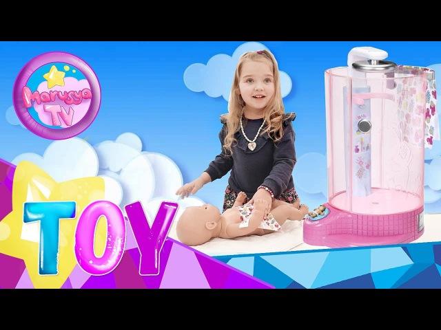 Беби Борн — автоматическая душевая кабинка Весёлое купание Baby Born rain fun shower Обзор...