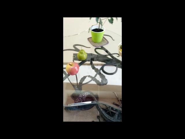 Кованый стол. Кований стіл. Wrought-iron table.