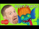 Body Parts from Steve and Maggie MORE English Stories for Kids | Head Shoulders | Magic English