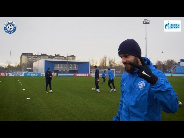 Тренировка ФК Оренбург перед матчем с ФК Ротор