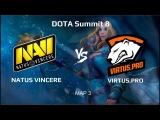 NaVi vs Virtus.Pro map 3 | Bo5 | DOTA Summit 8