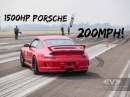 1500HP Porsche GT3 Spin Out at 202mph Shift S3ctor