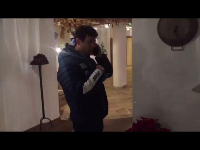 Уле Эйнар Бьорндален и Антон Шипулин выражают друг другу респект (Хохфильцен 2017)