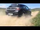 Off road Opel astra GTC start slow motion