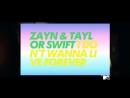 Zayn ft. Teylor Swift - I don't wanna live forever (MTV Polska)