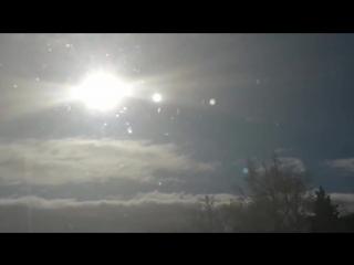 Хвост Нибиру в московской области! Солнце и рядом Луны Нибиру, два загадочных объекта!