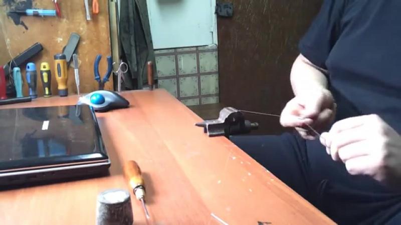 Как я делаю крючок для прошивки обуви » Freewka.com - Смотреть онлайн в хорощем качестве