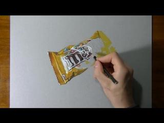 Рисуем пачку от M&M's (time-lapse)
