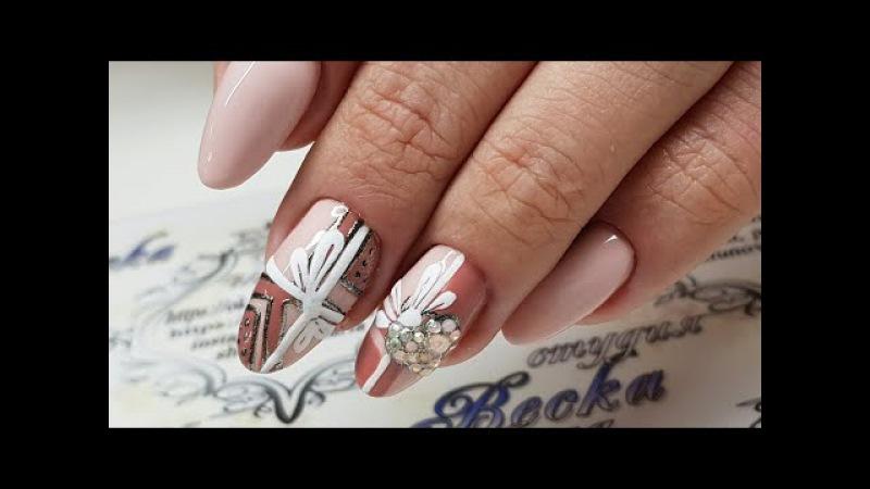 Гель лак с Алиэкспресс.Гель лак Веналиса. Зимний дизайн ногтей к новому году Под...