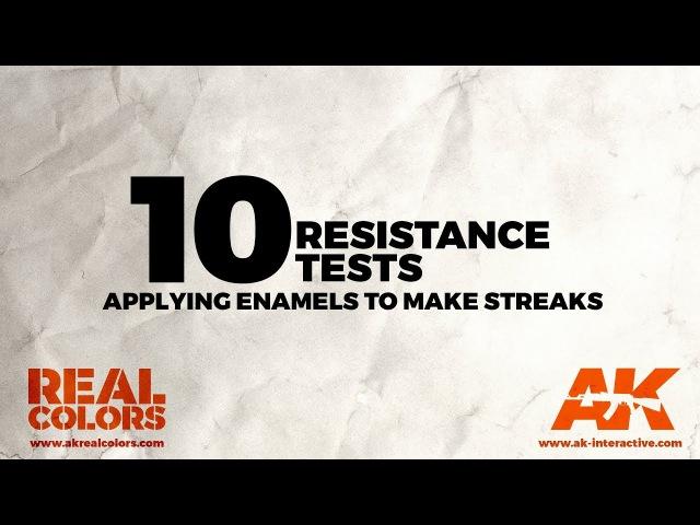 10.RESISTANCE TESTS. Applying enamels to make streaks - ||ENG||