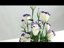 15 2 Làm hoa LAN TƯỜNG bằng giấy nhún How to make Lisianthus paper flower