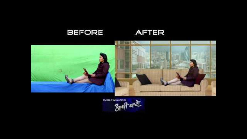BHAVYA ARTS VFX breakdown | Green Screen Before And After | VFX Work in Nepal