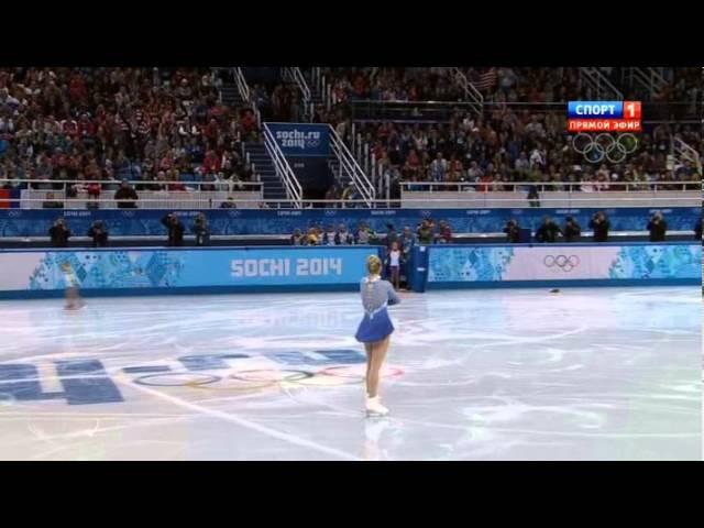 Даже Путин встал15 летняя девочка рвёт стадионСочи2014