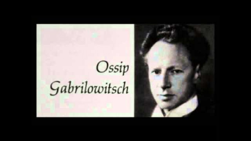 Chopin Ossip Gabrilowitsch Осип Габрилович, 1905 Mazurka in B minor, Op. 33, No. 4