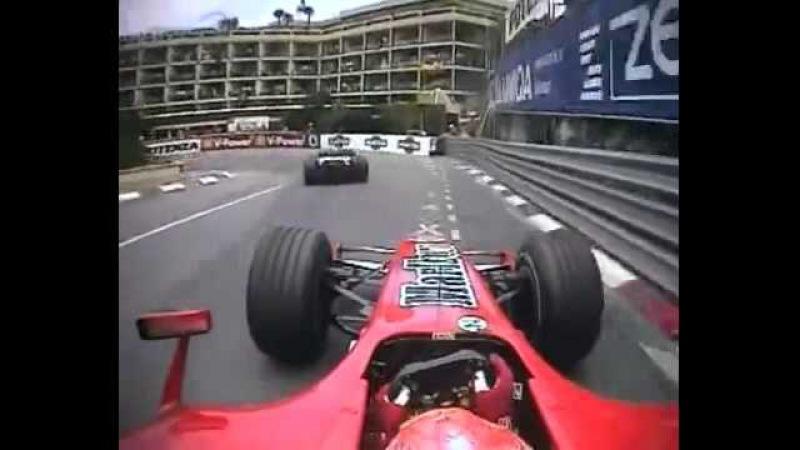 F1 Monaco 2006 Michael Schumacher Chasing Rubens Barrichello