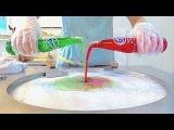 Red Fanta w Green Fanta! Strawberry Blueberry Ice cream VS vanilla Oreo ice cream rolls