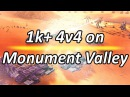 1k 4v4 on Adaptive Monument Valley Supreme Commander Forged Alliance Forever