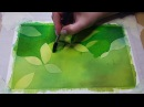 How to paint with negative painting technique