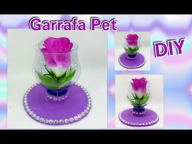 Como fazer lembrancinha fácil de Garrafa Pet Reciclagem de garrafa pet Artesanato Pet Bottle
