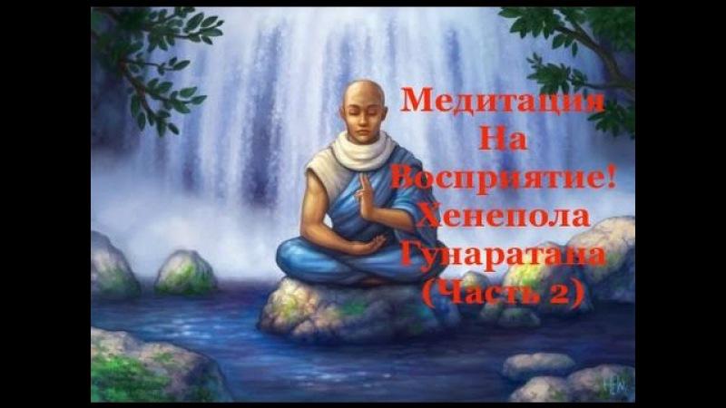 Искаженное Восприятие! Медитация На Восприятие! Хенепола Гунаратана (Часть 2)