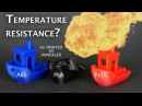 What's the temperature resistance of annealed PLA PETG and ABS