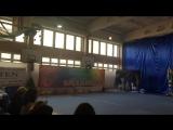 Наша первая медаль по художественной гимнастике*))Ты умничка...Слушайся тренеров и все у тебя получиться.