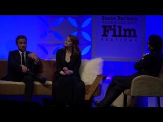SBIFF 2017 - Ryan Gosling Emma Stone Discuss Accolades For La La Land