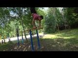 Приехал к сыну в спортивный лагерь и решил решил показать что Я тоже немного спортсмен! #стойканабрусьях