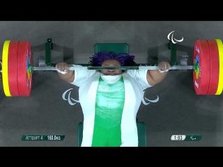 Жозефина Оржи - жим лежа 160 кг (86 кг)