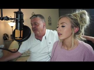 Красавица Samantha Harvey спела со своим отцом песню Bob Carlisle - Butterfly Kisses