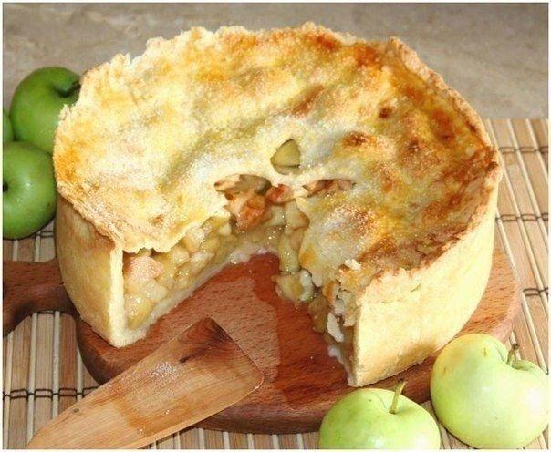 Яблочный пай Ингредиенты: Тесто: 2 ст муки 150 г сливочного масла 0,5