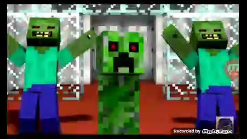 Зелёный няша крипер