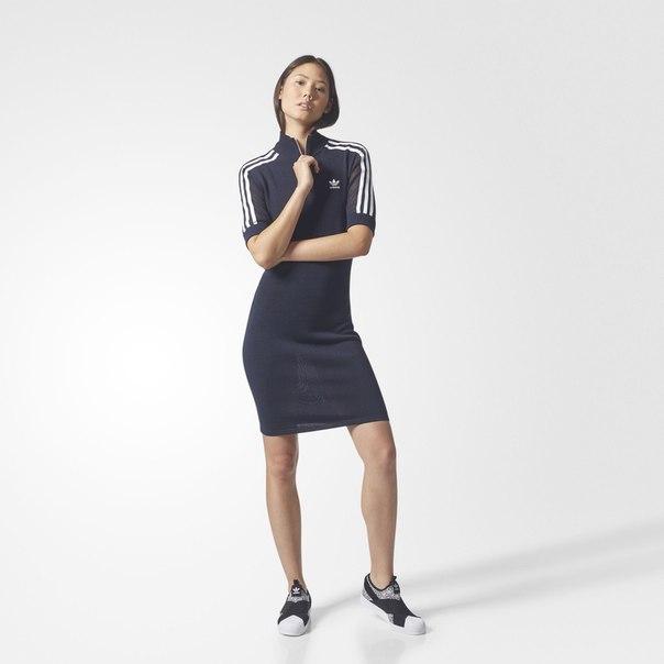 Платье 3-Stripes High-Neck