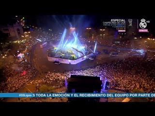 Празднование чемпионства на площади Сибелес