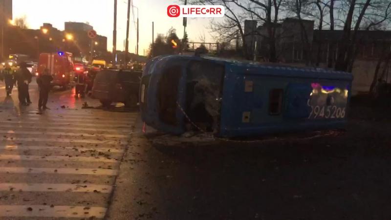 9 человек пострадали В ДТП с маршрутным автобусом в Москве