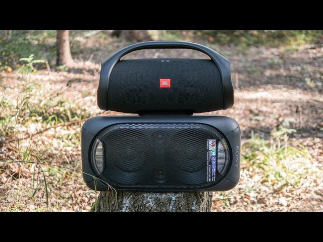 JBL Boombox vs Sony GTK-XB60 outdoor comparison