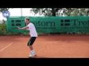 Работа ног в теннисе Часть 5 Подход к мячу движение косо вперед