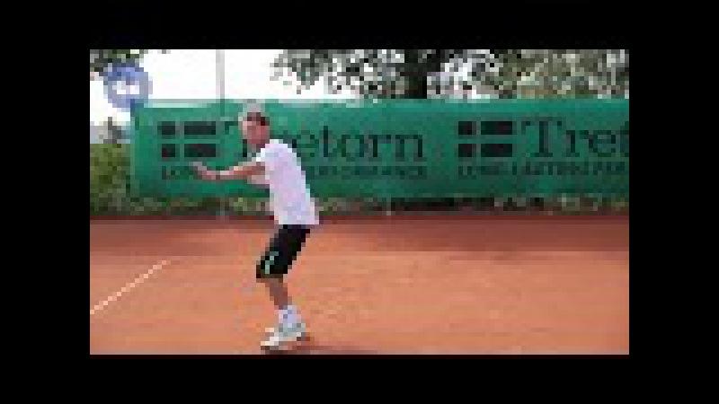 Работа ног в теннисе. Часть 5: Подход к мячу: движение косо вперед