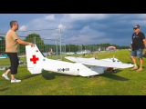 GREAT RC MODEL AIRPLANE TRANSALL C-160 FLIGHT DEMO!! REMOTE CONTROL PLANE