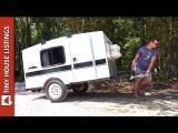 Camping In A 4x8 Runaway Micro Camper