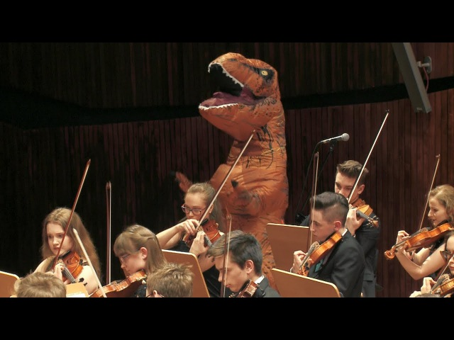 T-rex in Jurassic Park Main Theme by John Williams 쥬라기 공원 ジュラシック・パーク :waiting for Fallen Kingdom