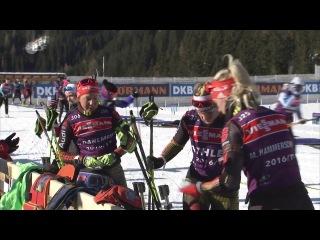 Немецкие девушки перед индивидуальной гонкой и интервью Доро Вирер